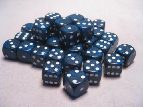 Stealth Speckled 12mm d6 Chessex Dice Sets 36