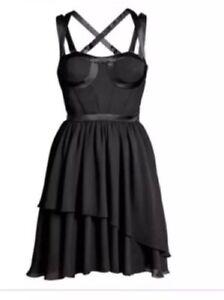 Image Is Loading Versace H Amp M Black Silk Corset Style