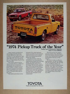 1974 Toyota Hilux Long Bed 2000 Pickup Truck vintage print Ad