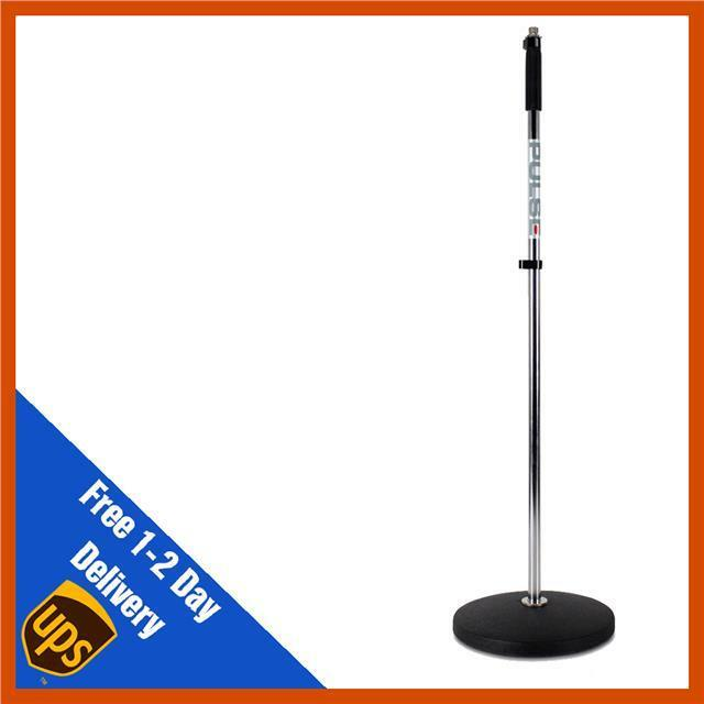 Silver Retro Heavy Duty Round Base Microphone Mic Stand