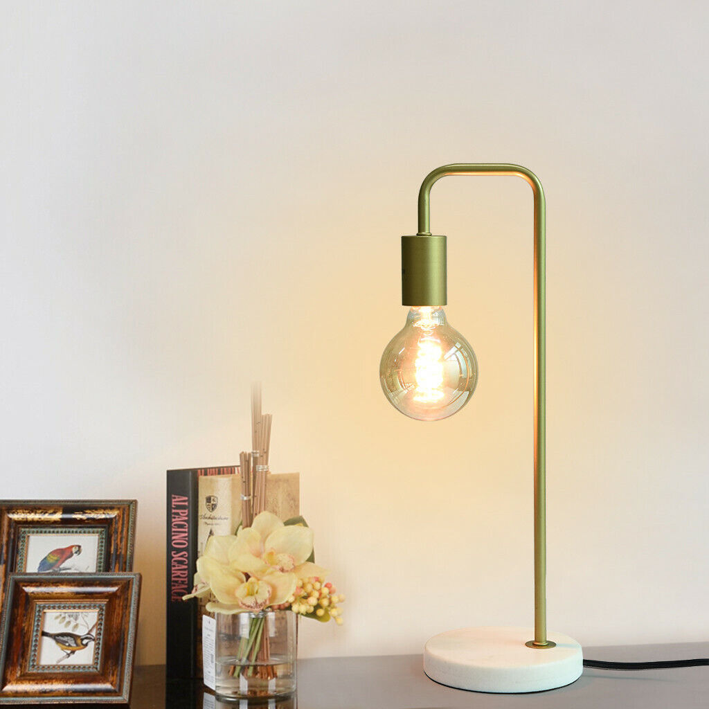 Picture of: Industrial Desk Lamps Classic Modern Black Bedside Table Lamp Marble Base Frame Ebay