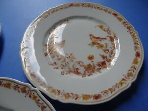 3 Belles Assiettes A Dessert En Porcelaine De Limoges Haviland Birds DernièRe Mode