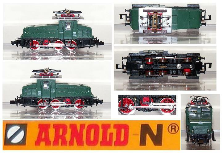 ARNOLD 2460 VINTAGE LOCOMOTIVE ELECTRICAL SHUNTER Ep.3a Serie E6306 BOX SCALA-N