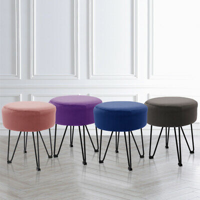 Soft Fabric Vanity Stool Dressing Table Seat Dining Chair