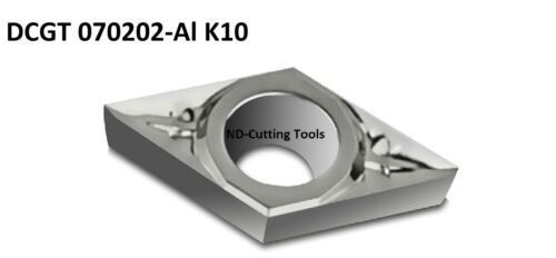 10x WSP DCGT 070202 AL K10 Turning Plate for Aluminum Sanded & Polished Top