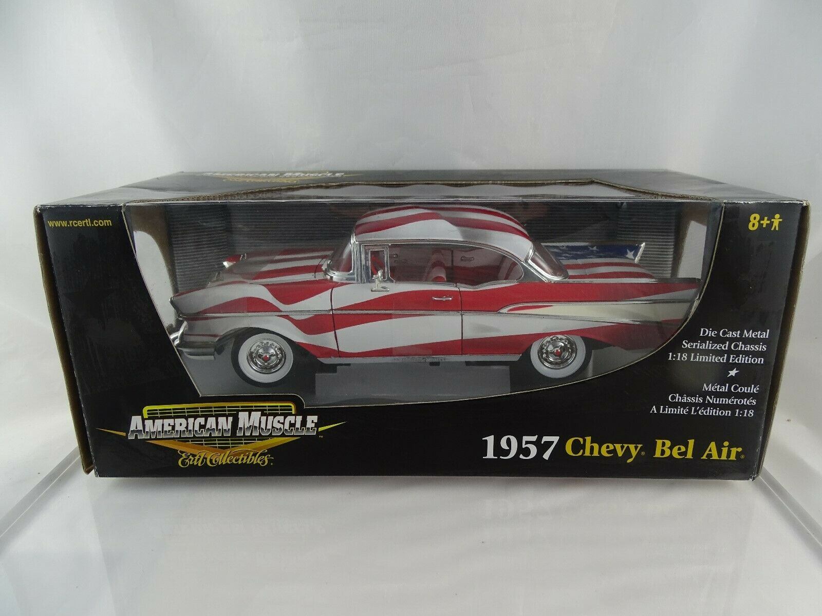 1 18 ertl american muscle  33987 1957 CHEVY BEL AIR Limited Edition Nouveau Neuf dans sa boîte