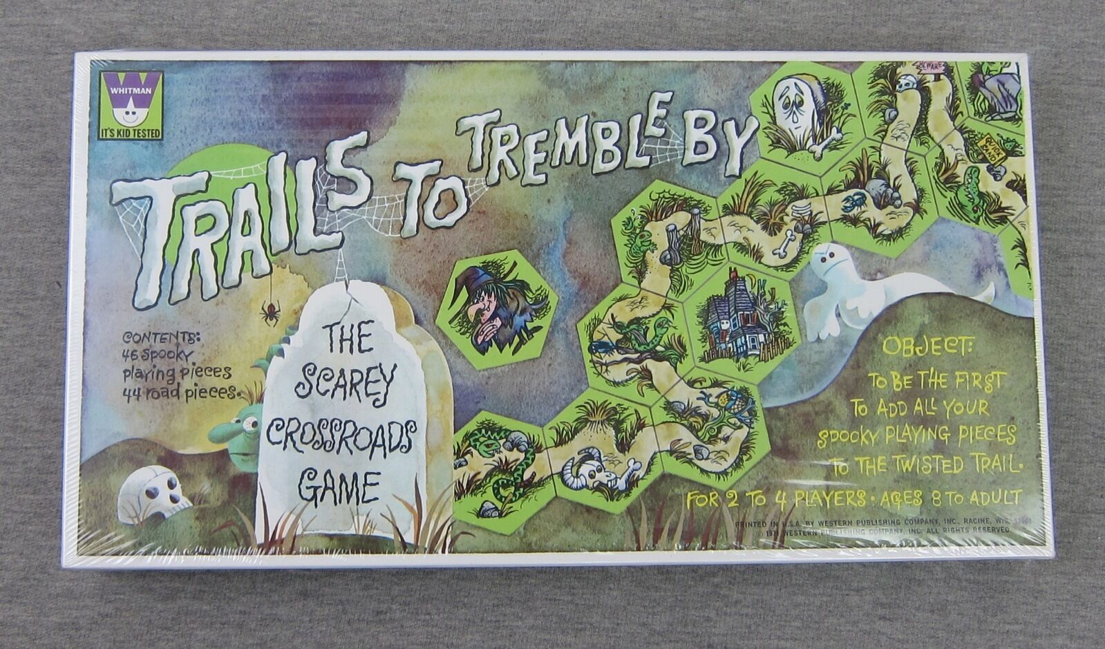 NEW Vintage Whitman TRAILS TO TREMBLE BY Scarey Crossroads Game SEALED 1971 RARE