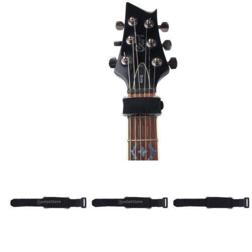 3 Stücke Elektrische Gitarre Fret Wraps Einstellbare Dämpfer Teile Accs