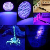 UV Ultra Violet 100 LED Flashlight Mini Blacklight Aluminum Torch Light Lamp Lot