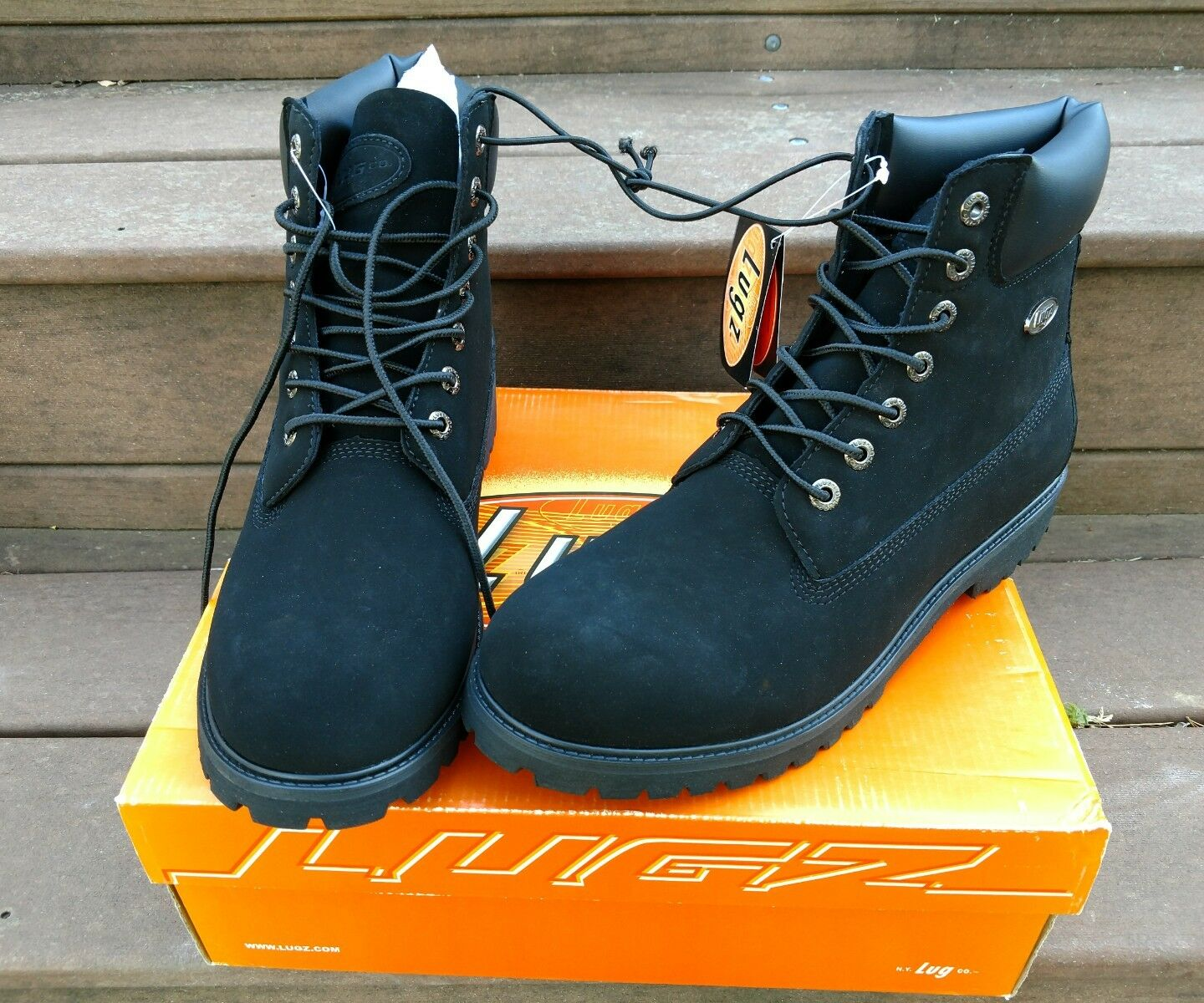Lugz MCNWD-001 Men's Black Convoy Wr Hiking Boots shoes New With Box Size 11