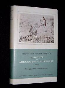 Details About Dcgerman Poetry Book Gedichte Ahnung Und Gegenwart Josef Von Eichendorff