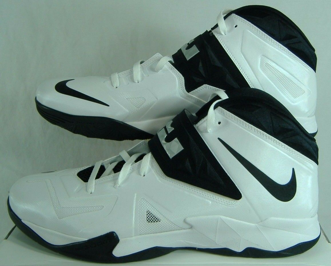 New Mens 18 Nike Zoom Soldier VII TB Lebron White Black Hi shoes  145 599263-100