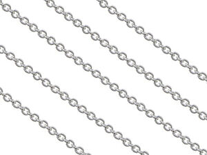 1.3mm // 20 inches // 1.00g 925 Sterling Silver Trace Chain Necklace