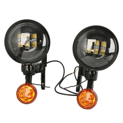 Auxiliary Lighting Bracket Spot Fog Light Turn Signal For Harley Street Glide