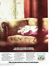 PUBLICITE ADVERTISING 066  1972  Fido  aliments patée  pour chat