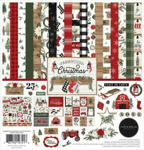 Carta Bella FARMHOUSE CHRISTMAS 12x12 Collection Kit  Home Family Scrapbook fs