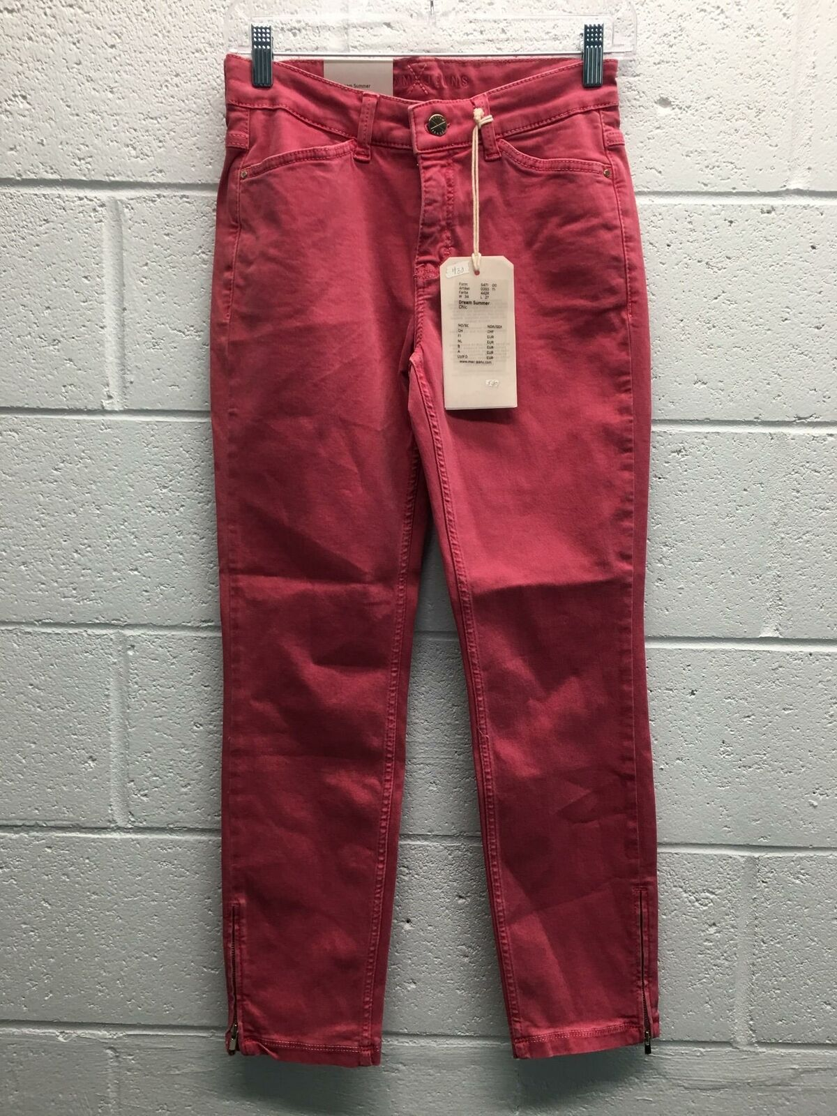Women's Mac Jeans Dream Summer Jeans Size 34x27 HotPink Cotton Polyester Spandex