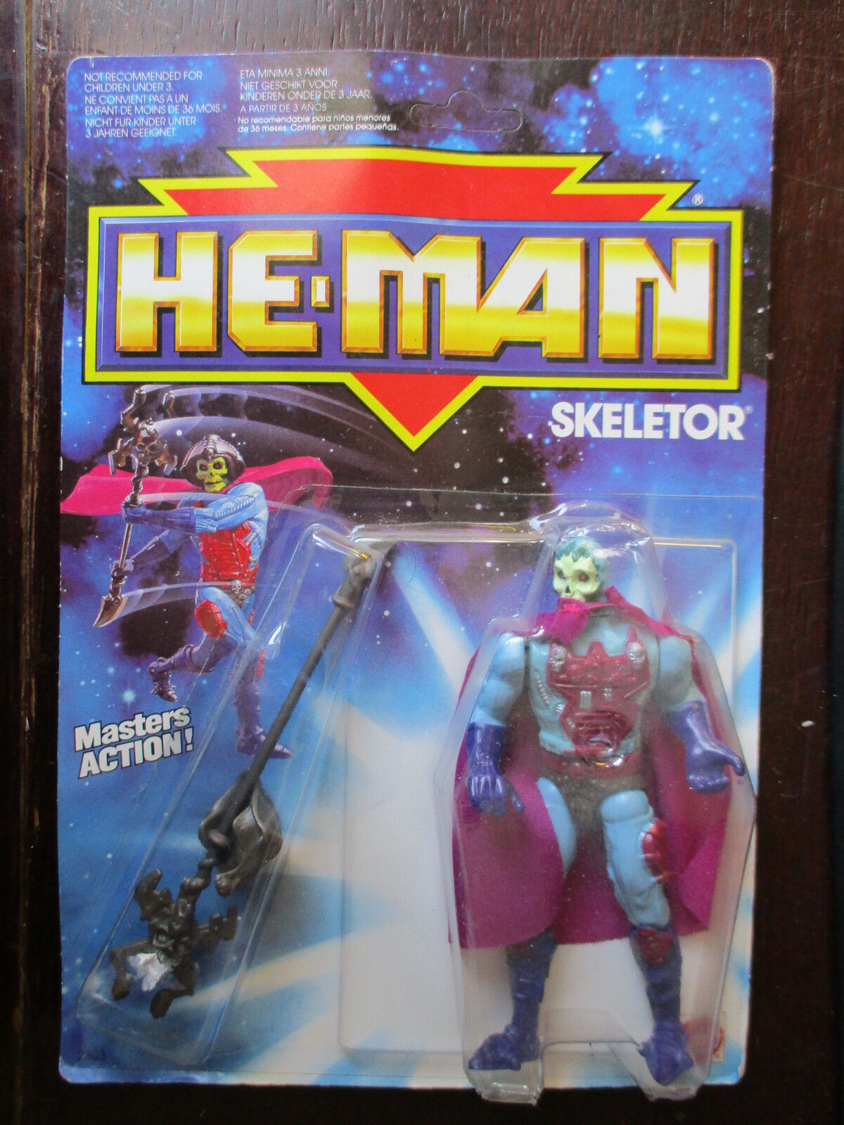 NEW HE MAN SKELETOR MASTERS OF UNIVERSO MOTU 1990