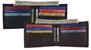 Genuine-Leather-Mens-Bifold-Simple-Wallet-Thin-Credit-Card-Front-Pocket