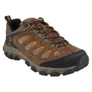 orange J24397 Mens Walking Trainers Up Hiking Pulsate Merrell Bracken Waterproof Lace Leather Boots wqxwgZaA