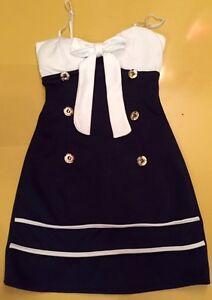 rockabilly blau wei es matrosen sailer kleid sommer gr s. Black Bedroom Furniture Sets. Home Design Ideas