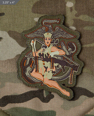 Mil-Spec Monkey Velcro Morale Patch Desert Marine Girl Multicam MTP UK ARMY