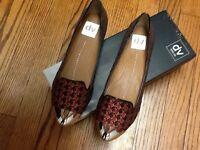 $79 Dv Dolce Vita Larson Red Fabric Flat Shoes Sz 7