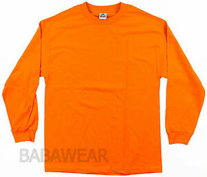 a9160ab56056 AAA High Visibility Orange Plain T-Shirt Safety Long Sleeve Alstyle ...
