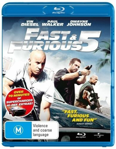 1 of 1 - Fast & Furious 5 (Blu-ray, 2011) -- Free Postage --