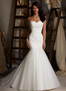 Vestidos de novia corte sirena con tul