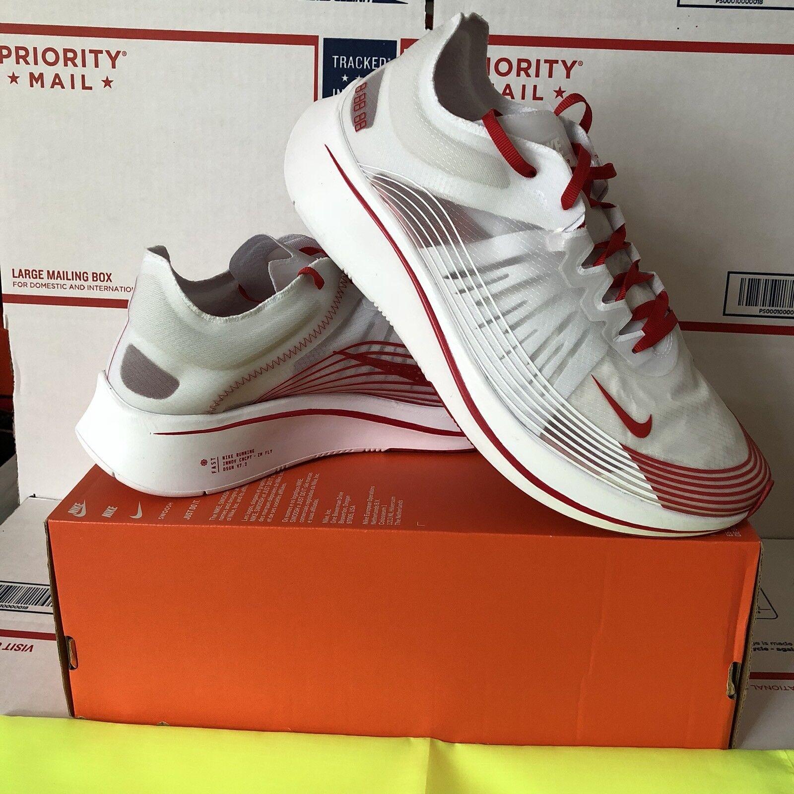 NikeLab Nike Zoom Fly SP Tokyo Size 11 White University Red Running AJ9282 100