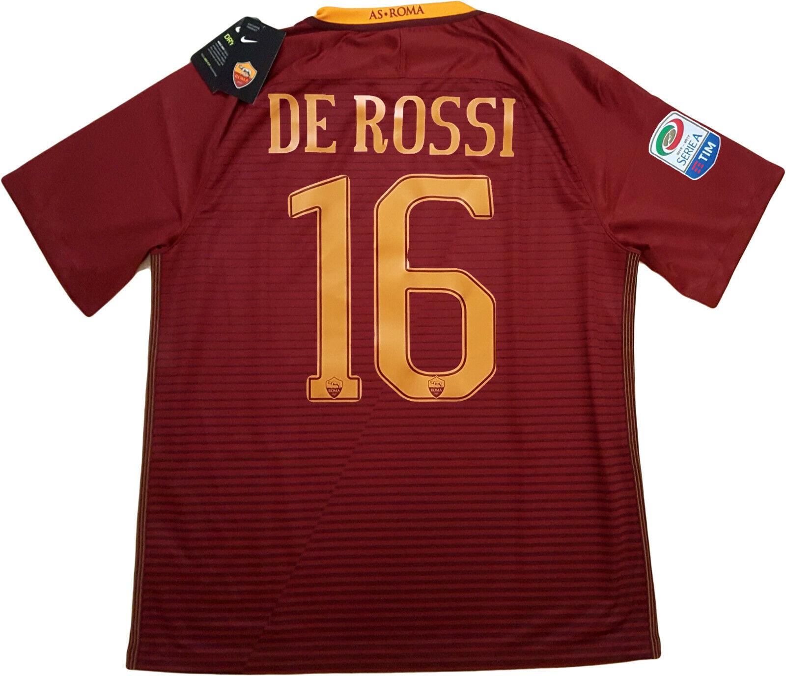 Maglia De Rossi roma shirt jersey SERIE A Ufficiale 2016 17 NIKE STADIUM XL