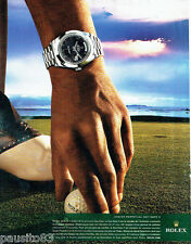 PUBLICITE ADVERTISING 046  2008  Rolex  la montre Oyster Perpetual Day-Date golf