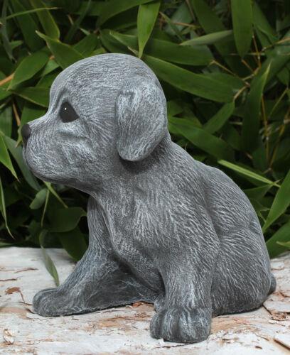 Pierre personnage weple assis gris ardoise Steinguss au gel chiens personnage Gartendeko