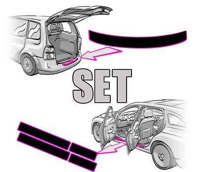 Nissan Qashqai 2 J11 Ladekantenschutz+Einstiegsleisten SET in MATT SCHWARZ Folie