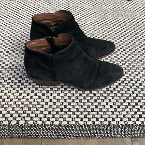 Sam Edelman black suede leather ankle