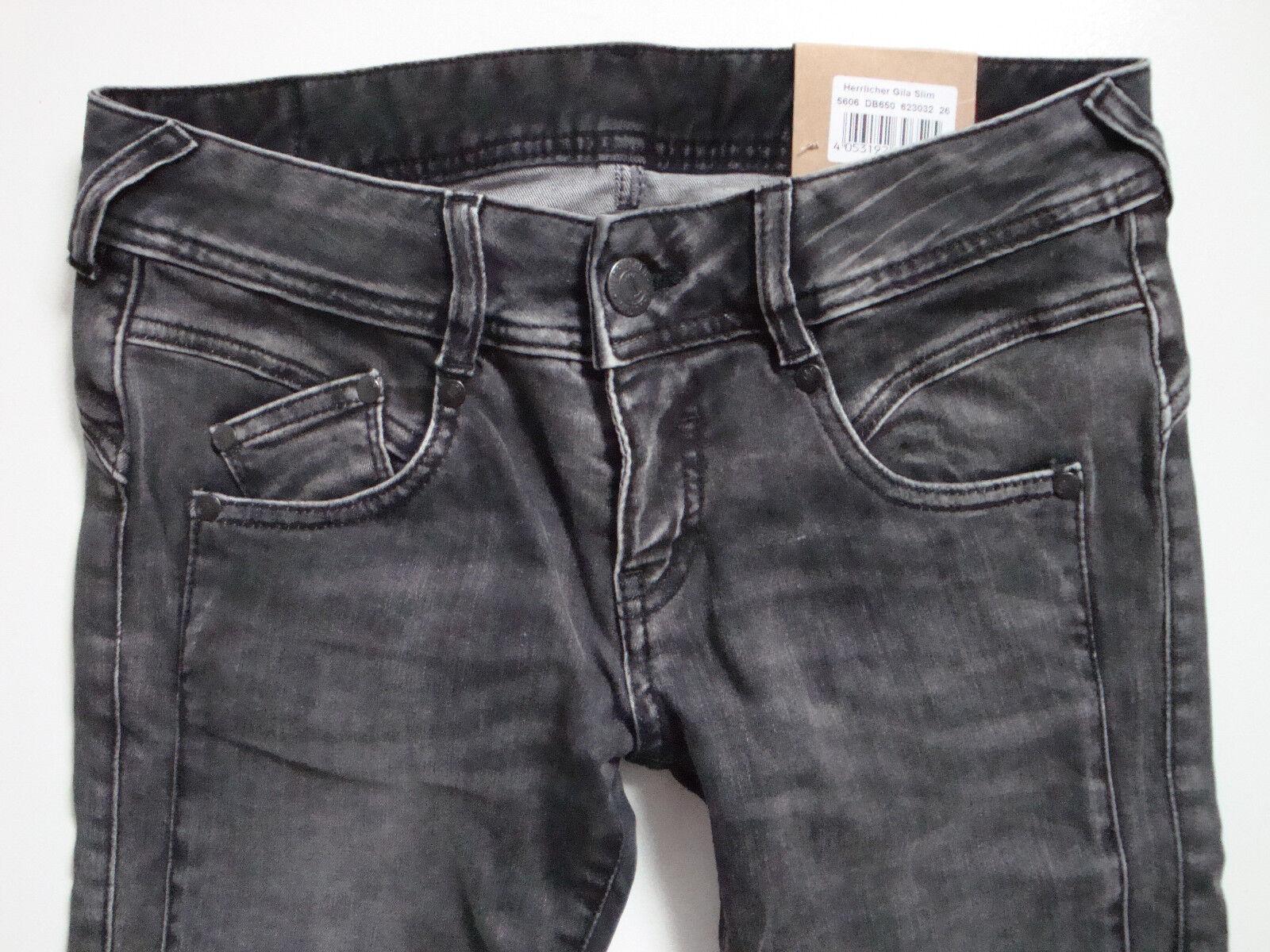 HERRLICHER  Jeans GILA  Slim  5606 Stretch W25 W26 W27 W28 W29 W30 W31 Neu