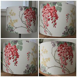 Laura ashley wisteria cranberry fabric lampshade lightshade 30cm image is loading laura ashley wisteria cranberry fabric lampshade lightshade 30cm mozeypictures Gallery