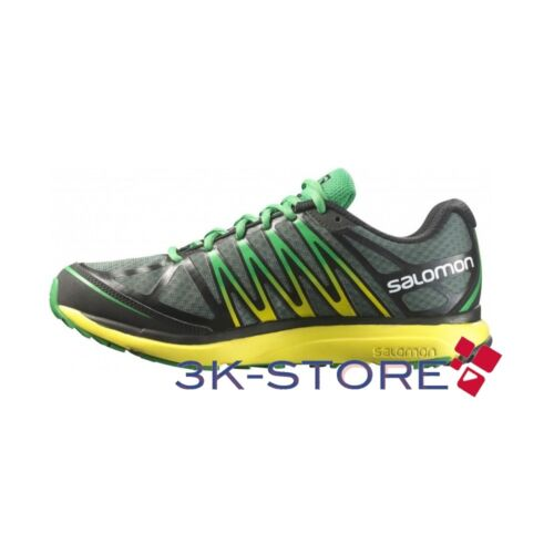 MEN'S SHOES SALOMON SUITABLE FOR TOUR M BLACK GREEN MOUNTAIN TREKKING