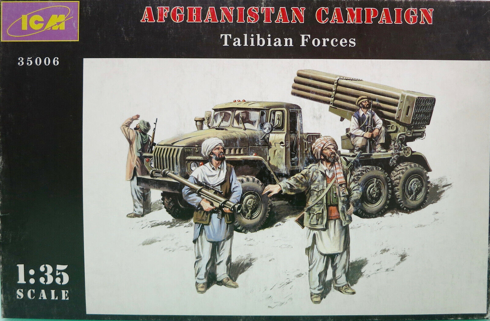 ICM 35006 - AFGHANISTAN CAMPAIGN TALIBIAN FORCES - MODEL KIT SCALA 1 35