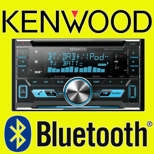 Kenwood DPX-7100DAB Doble Din Bluetooth DAB AUX USB iPhone Estéreo De Coche Camioneta