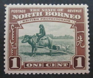 NORTH-BORNEO-SG303-1939-1c-GREEN-amp-RED-BROWN-MM