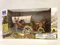 Big Country Western Cowboy Set, Set Contains: Cowboys, Horses, Covered Wagon