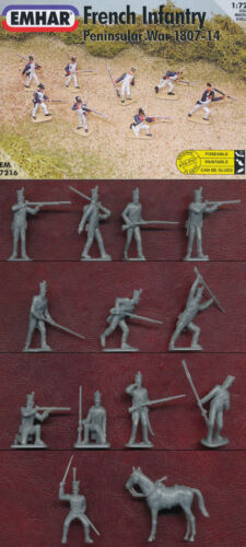 1:72 FIGUREN 7216 FRENCH INFANTRY PENINSULAR WAR 1807-1814 EMHAR