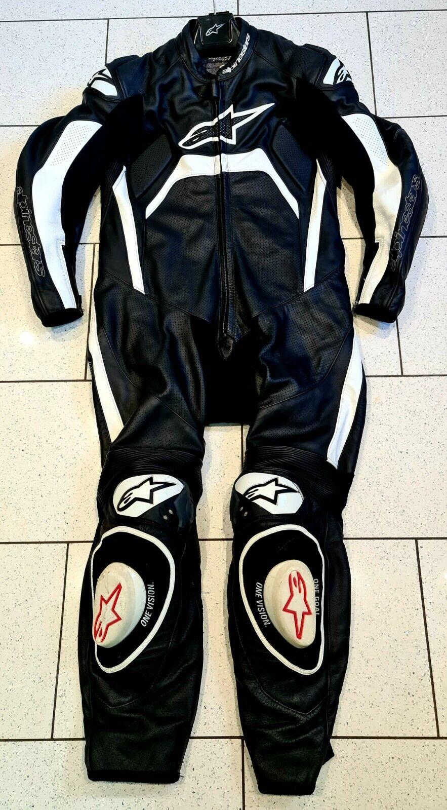 Alpinestars Tech 1R Motorcycle Racing 1 Piece leathers Size Euro 54