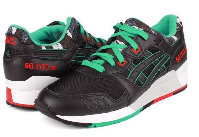 ASICS H404L.9090 GEL-LYTE III Mn's (M) Black Black Synthetic Lifestyle shoes