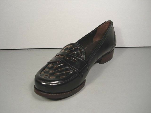 Bottega veneta 36/6 nero woven leather penny loafers flats flats flats shoes Uomowear NEW fa0983
