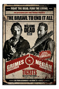 The-Walking-Dead-Fight-Poster-New-Maxi-Size-36-x-24-Inch