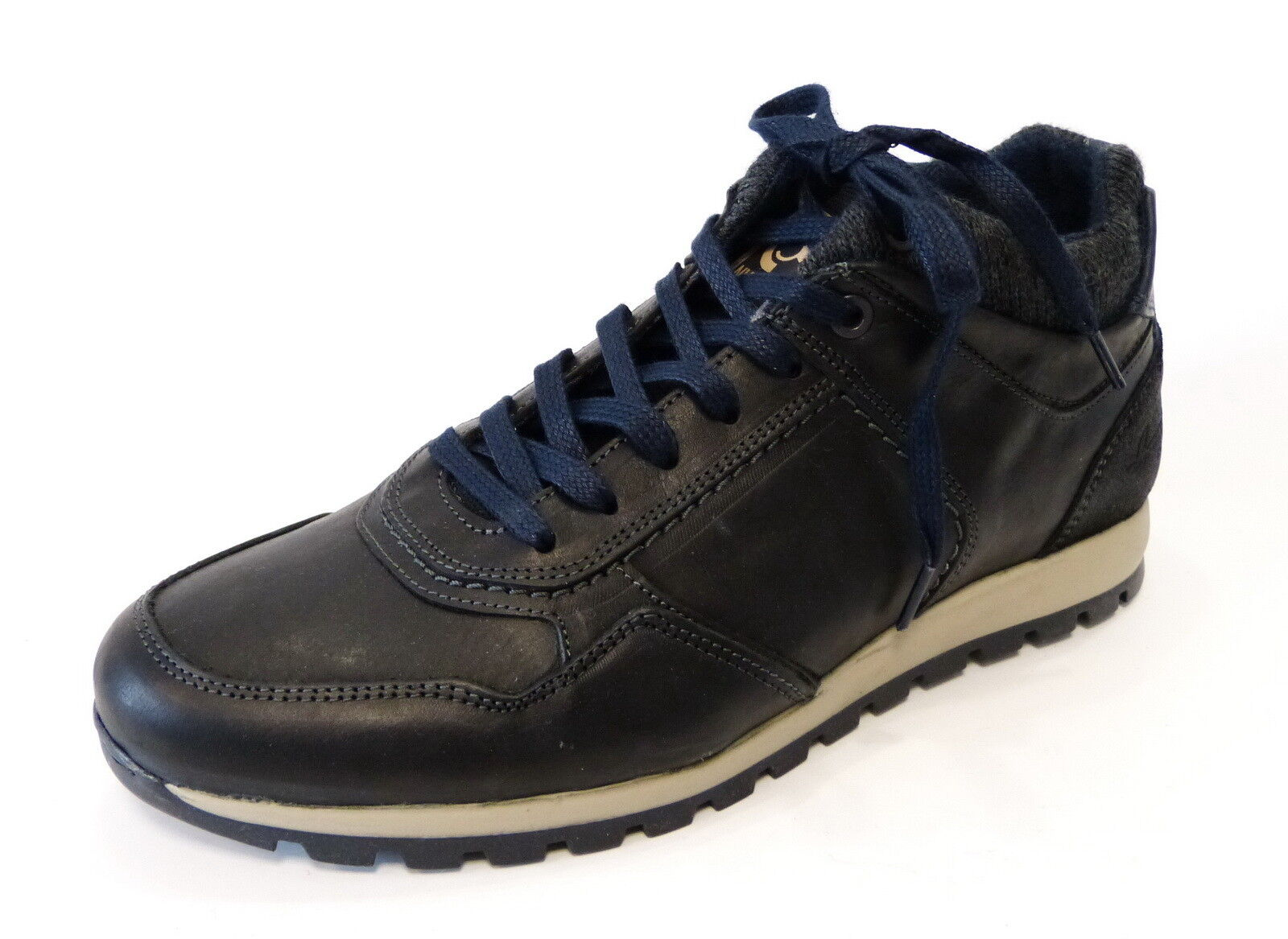 Bullboxer sportlicher Trend Sneaker schwarz Hi Top 628K56306Ap737 Leder