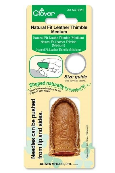 Clover Medium Natural Fit Leather Thimble CL6029 Sewing Quilting Notions